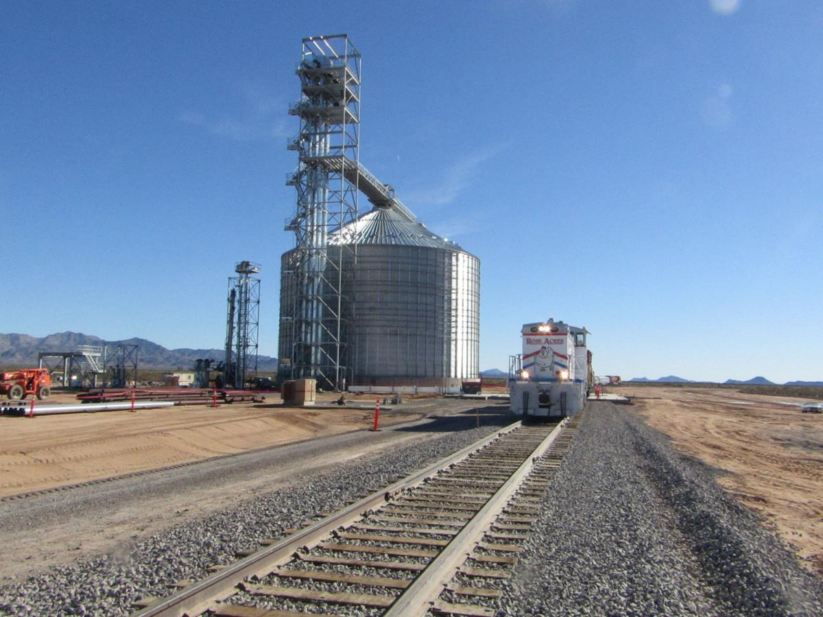 Grain Terminal And Railroad Line At Rose Acre Farms Dedicated